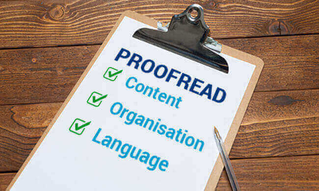 Check list for ielts proffreading